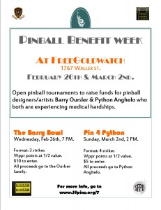 Pinball benefit week