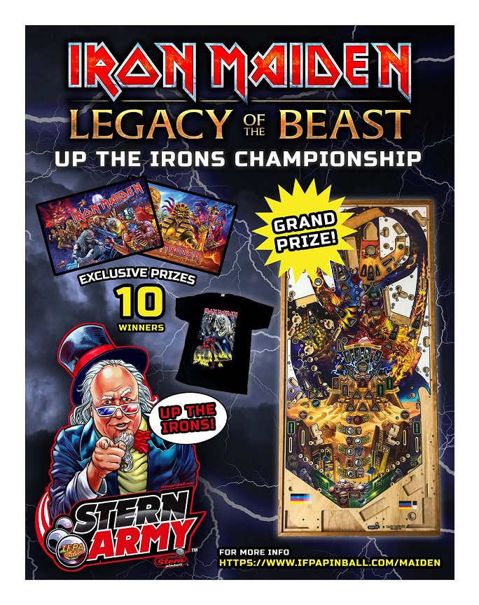Stern Army Iron Maiden Legacy of the Beast Tournament